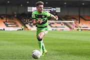 Forest Green Rovers Liam Shephard(2) runs forward during the EFL Sky Bet League 2 match between Port Vale and Forest Green Rovers at Vale Park, Burslem, England on 23 March 2019.