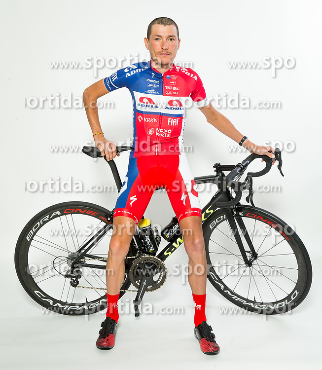 Jani Brajkovic during photo session of Cycling Team KK Adria Mobil, on January 22, 2018 in Novo Mesto, Novo Mesto, Slovenia. Photo by Vid Ponikvar / Sportida