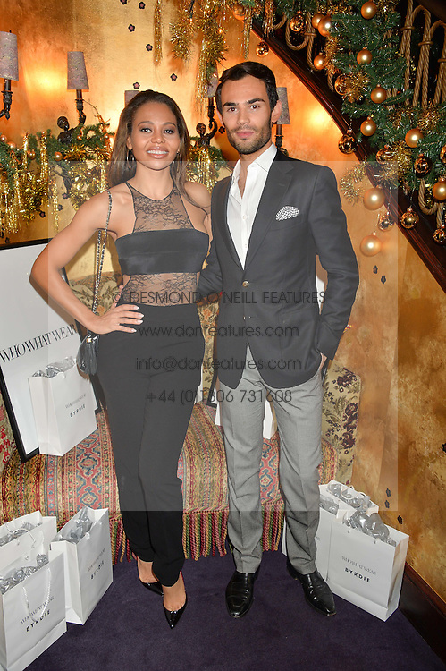 VISCOUNTESS WEYMOUTH and MARK-FRANCIS VANDELLI at the UK launch of WhoWhatWear UK held at Loulou's, Hertford Street, London on 24th November 2015.