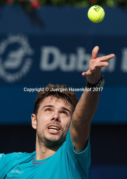 STAN WAWRINKA (SUI)<br /> <br /> Tennis - Dubai Duty Free Tennis Championships - ATP -  Dubai Duty Free Tennis Stadium - Dubai -  - United Arab Emirates  - 28 February 2017. <br /> &copy; Juergen Hasenkopf