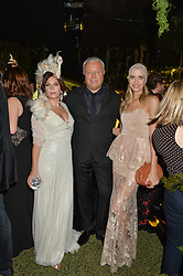 Left to right, ANNA FRIEL, ALEXANDER LEBEDEV and ELENA PERMINOVA at The Animal Ball presented by Elephant Family held at Victoria House, Bloomsbury Square, London on 22nd November 2016.