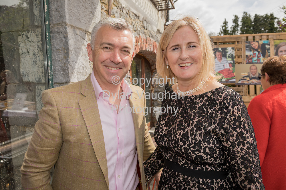 Repro Free No charge for Repro<br /> <br /> 24-4-17<br /> <br /> Helen Carroll of RTE&rsquo;s Ear to the Ground launched the next phase of #TasteKilkenny on Monday, 24th April at a lunch event at Highbank Orchards &amp; Distillery, Cuffesgrange, Co Kilkenny.<br /> <br /> Pictured at the launch were Owen Byrne, Glendown Marketing and Fiona Deegan, Head of Enterprise, Kilkenny Local Enterprise Office.<br />  <br /> An afternoon of tasting and presentations took place, including a welcome address by Cllr Matt Doran, Cathaoirleach and an update on the #TasteKilkenny initiative by Fiona Deegan. Followed by the official launch of the #TasteKilkenny website and videos.<br />  <br /> #TasteKilkenny was established as a collective of Kilkenny based producers and outlets to promote the vibrant food scene in Kilkenny and create a platform to showcase the very best of local food production. For more information see: www.TasteKilkenny.ie.<br /> <br /> Picture Dylan Vaughan.