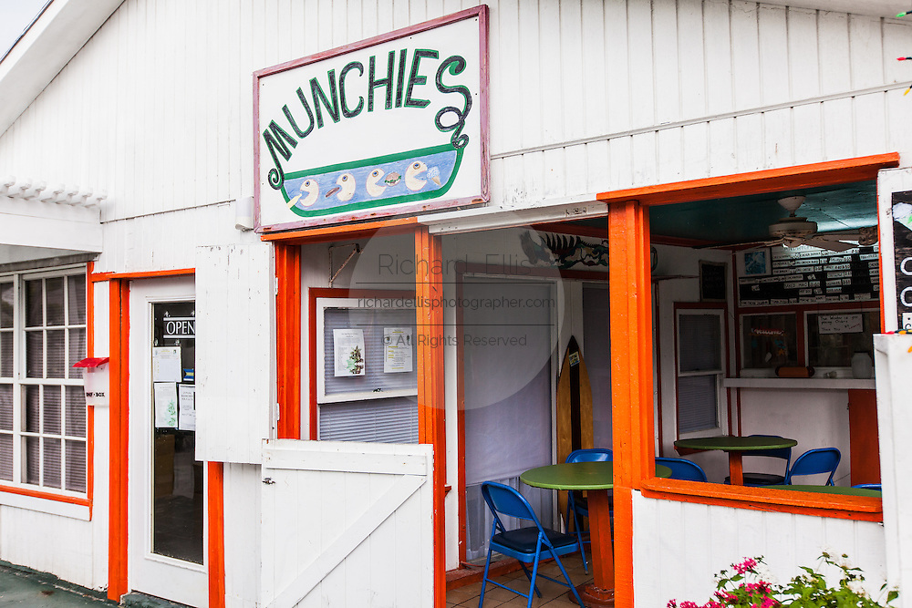 Munchies seafood restaurant on the tiny village of Hope Town, Elbow Cay Abacos, Bahamas.