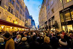 31.12.2017, Innenstadt, Wien, AUT, Wiener Silvesterpfad 2017, im Bild die Bognergasse // during the 2017 Vienna Sylvester Path at the downtown area of Vienna, Austria on 2017/12/31. EXPA Pictures © 2017, PhotoCredit: EXPA/ Sebastian Pucher