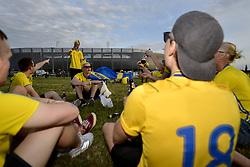 June 22, 2017 - Lublin, POLEN - 170622 Svenska fans inför fotbollsmatchen i U21-EM mellan Slovakien och Sverige den 22 juni 2017 i Lublin  (Credit Image: © Johanna Lundberg/Bildbyran via ZUMA Wire)