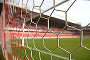 Nottingham Forest's goal net ahead of the Sky Bet Championship match between Nottingham Forest and Sheffield Wednesday at the City Ground, Nottingham, England on 12 March 2016. Photo by Jon Hobley.
