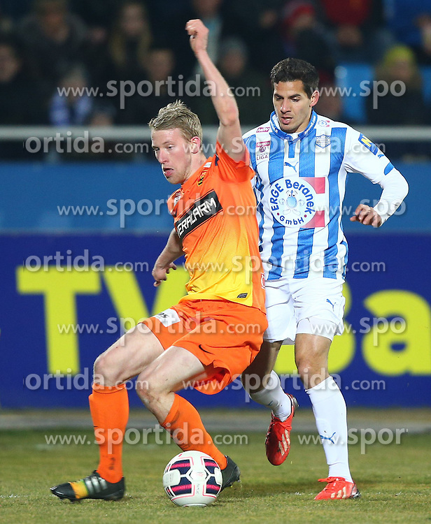 07.03.2015, Stadion Wiener Neustadt, Wiener Neustadt, AUT, 1. FBL, SC Wiener Neustadt vs FC Admira Wacker Moedling, 24. Runde, im Bild Thomas Ebner (FC Admira Wacker Moedling) und Abd Al Rahman Osman Ali (SC Wiener Neustadt) // during a Austrian Football Bundesliga Match, 24th Round, between SC Wiener Neustadt vs FC Admira Wacker Moedling at the Stadion Wiener Neustadt, Wiener Neustadt, Austria on 2015/03/07. EXPA Pictures © 2015, PhotoCredit: EXPA/ Thomas Haumer
