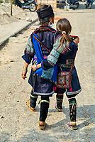 Vietnam. haut Tonkin. Region de Sapa. Hmong noir. // Vietnam. North Vietnam. Sapa area. Black Hmong.