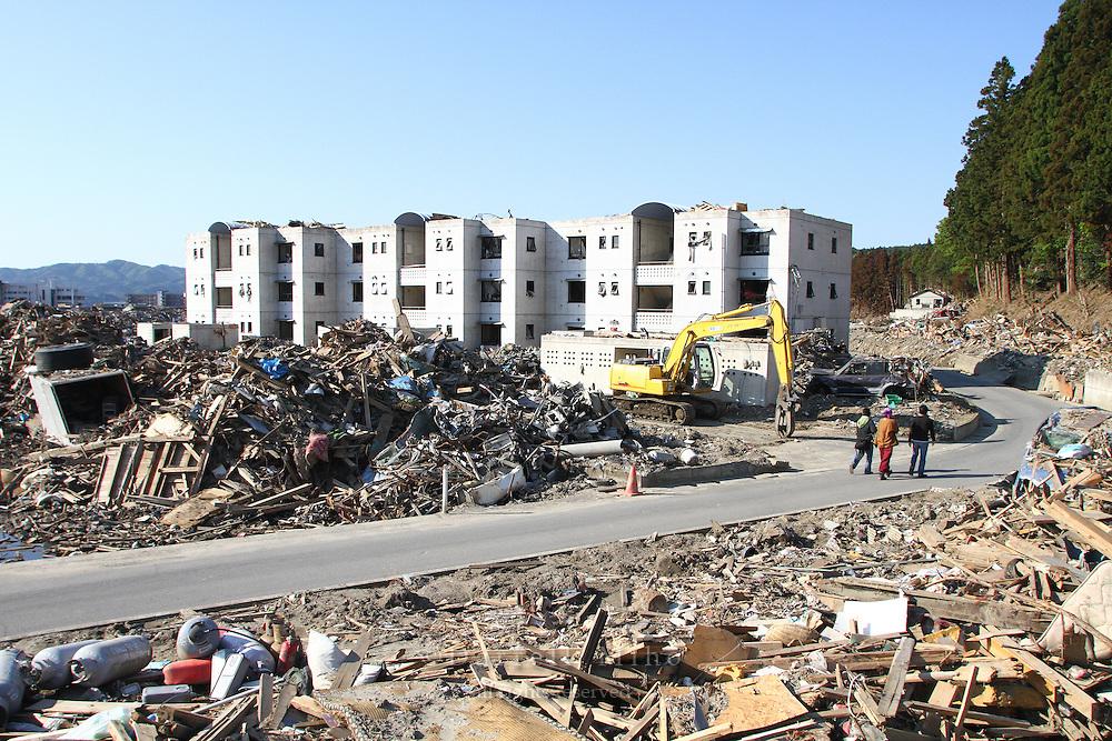 May 18, 2011; Minamisanriku, Miyagi Pref., Japan - Damage in Minamisanriku after the magnitude 9.0 Great East Japan Earthquake and Tsunami that devastated the Tohoku region of Japan on March 11, 2011.