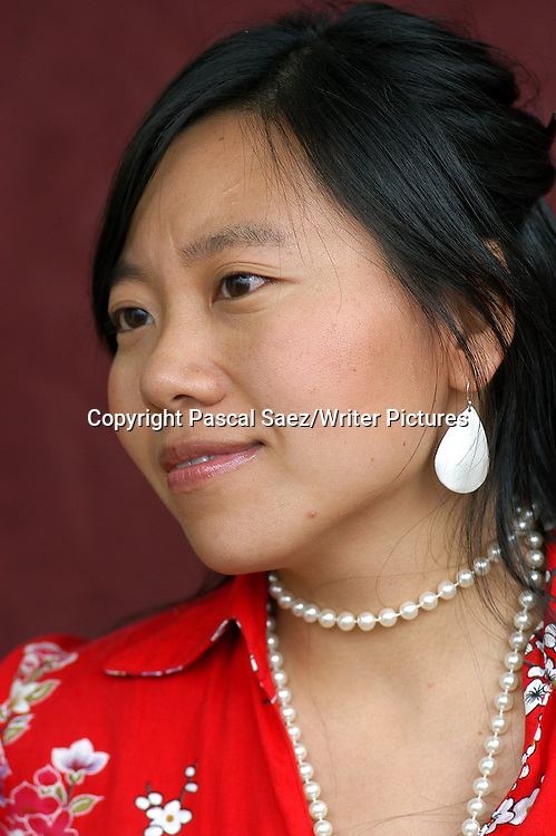 Chinese writer and filmmaker Xiaolu Guo, author of &quot;Village of Stone&quot;, at the Edinburgh International Book Festival 2004.    <br /> <br /> Copyright Pascal Saez<br /> Pascal Saez / Writer Pictures