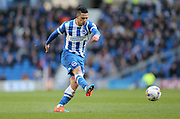Beram Kayal, Brighton midfielder unleashes a shot during the Sky Bet Championship match between Brighton and Hove Albion and Wolverhampton Wanderers at the American Express Community Stadium, Brighton and Hove, England on 14 March 2015.