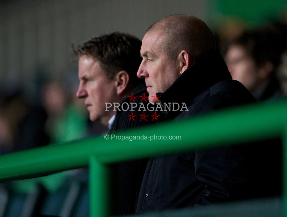 GLASGOW, SCOTLAND - Monday, November 7, 2011: NextGen Series founders Mark Warburton and Justin Andrews watch Glasgow Celtic take on Manchester City during the NextGen Series Group 1 match at Celtic Park. (Pic by David Rawcliffe/Propaganda)