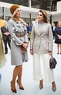Queen Rania & Queen Maxima Visit Mondriaan, Hague