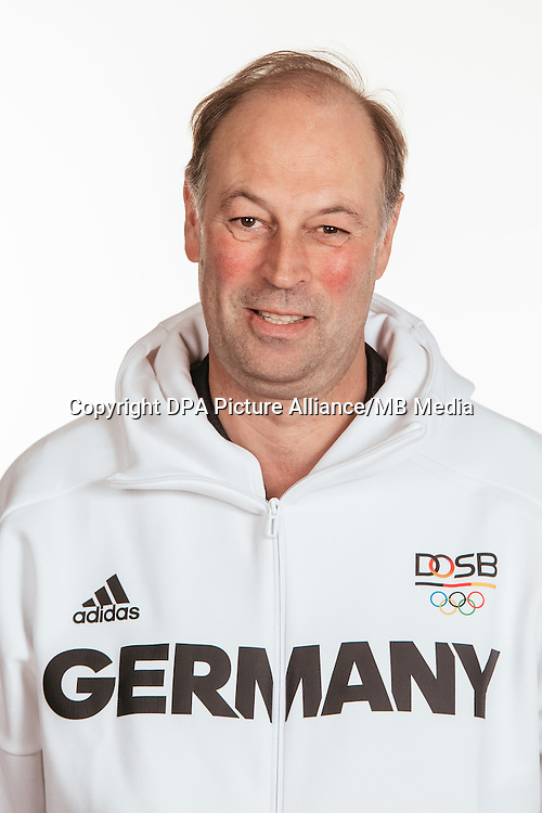 Dirk Böhme poses at a photocall during the preparations for the Olympic Games in Rio at the Emmich Cambrai Barracks in Hanover, Germany, taken on 15/07/16 | usage worldwide