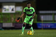 Forest Green Rovers Reece Brown(10) on the ball during the EFL Sky Bet League 2 match between Forest Green Rovers and Grimsby Town FC at the New Lawn, Forest Green, United Kingdom on 22 January 2019.