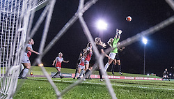 The Rutgers Scarlet Knights women's soccer team takes on the Ohio State Buckeyes at Yurcak Field on Thursday night, October 15, 2015.<br /> Ben Solomon/Rutgers Athletics