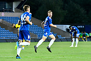 Jack Clarke (47) of Leeds United celebrates after scoring Leeds 3rd goal during the Pre-Season Friendly match between Oxford United and Leeds United at the Kassam Stadium, Oxford, England on 24 July 2018. Picture by Graham Hunt.