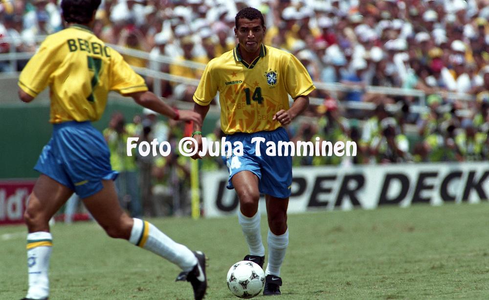 FIFA World Cup - USA 1994<br /> 17.7.1994, Rose Bowl Stadium, Pasadena, California.<br /> World Cup Final, Brazil v Italy.<br /> Caf&uacute; - Brazil<br /> Full name: Marcos Evangelista de Moraes