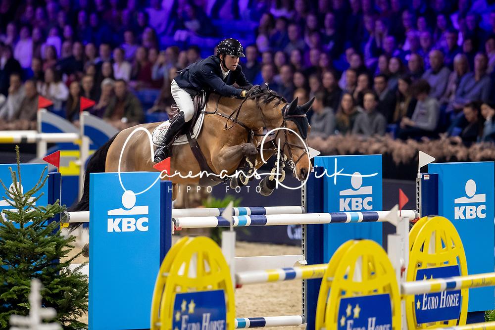 Thomas Gilles, BEL, Konak<br /> Jumping Mechelen 2019<br /> © Hippo Foto - Dirk Caremans<br />  28/12/2019