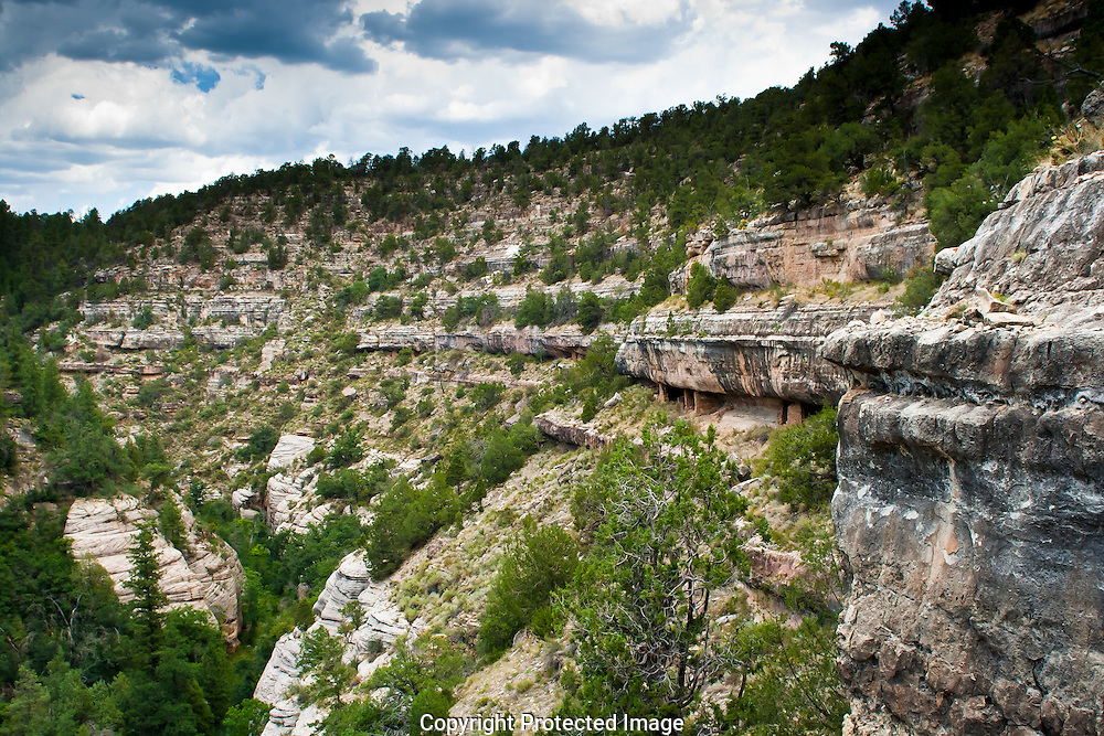 Walnut Canyon National Monument was home to the Sinagua peoples.  The hardiness and ingenuity of these people allowed them to survive by farming, hunting, and trading in this relatively dry region more than 800 years ago.