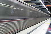 Speeding Subway Train Motion, Long Exposure