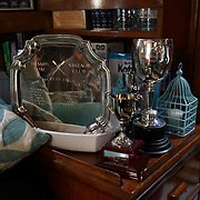 London, England, UK. 8th September 2017.Graeme Turner is one of the Crest skipper introduction of the boat Crest badly damages included the engine and it takes two and half years fully restored the boat and has won a few medal proudly display at The 9th year of Classic Boat Festival at St. Katharine Docks, London, UK.