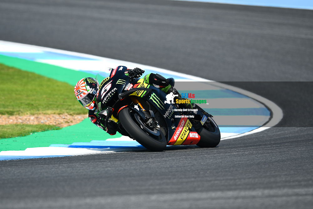 BURIRAM, THAILAND - OCTOBER 06: Johann Zarco (5) of France and Monster Yamaha Tech 3 in Turn 3 during FP3 at the MotoGP PTT Thailand Grand Prix 2018, Chang International Circuit, Buriram, Thailand on October 06, 2018. <br /> .<br /> .<br /> .<br /> (Photo by: Naratip Golf Srisupab/SEALs Sports Images)<br /> .<br /> Any image use must include a mandatory credit line adjacent to the content which should read: Naratip Golf Srisupab/SEALs Sports Images