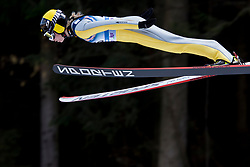 Julia Kykkaenen from Finland during Qualification Round at Day 2 of FIS Ski Jumping World Cup Ladies Ljubno 2018, on January 27, 2018 in Ljubno ob Savinji, Slovenia. Photo by Urban Urbanc / Sportida