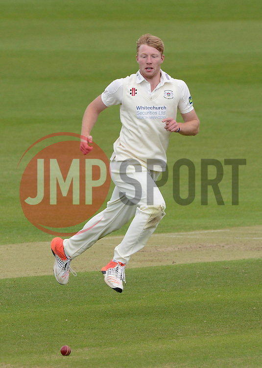Liam Norwell of Gloucestershire gives chase to the ball - Photo mandatory by-line: Dougie Allward/JMP - Mobile: 07966 386802 - 19/05/2015 - SPORT - Cricket - Bristol - County Ground - Gloucestershire v Kent - LV=County Cricket Division 2