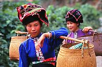 Black Tai minority wome, Northern Vietnam