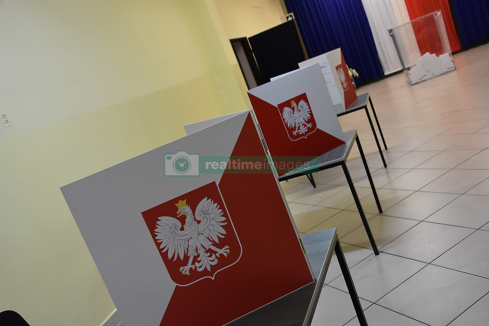 May 26, 2019 - Lubin, Poland - At the 21st Warsaw time, elections to the European Parliament were completed in Poland. Poles elected 52 deputies. The ballot boxes have been opened and your counting of votes (Credit Image: © Piotr Twardysko-Wierzbicki/ZUMA Wire)