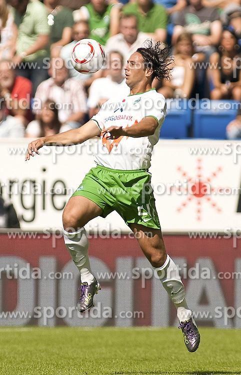 21.08.2010, Rhein-Neckar-Arena, Sinsheim, GER, 1. FBL, TSG Hoffenheim vs Werder Bremen, im Bild Claudio Pizarro (Bremen #24) bei der Ballannahme, .EXPA Pictures © 2010, PhotoCredit: EXPA/ nph/  Roth+++++ ATTENTION - OUT OF GER +++++ / SPORTIDA PHOTO AGENCY
