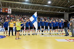 02.11.2016, Arena Nova, Wiener Neustadt, AUT, EHF, Handball EM Qualifikation, Österreich vs Finnland, Gruppe 3, im Bild die Mannschaft von Finnland// during the EHF Handball European Championship 2018, Group 3, Qualifier Match between Austria and Finland at the Arena Nova, Wiener Neustadt, Austria on 2016/11/02. EXPA Pictures © 2016, PhotoCredit: EXPA/ Sebastian Pucher