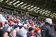 Sheffield United fans in good voice during the EFL Sky Bet Championship match between Sheffield United and Nottingham Forest at Bramall Lane, Sheffield, England on 17 March 2018. Picture by Mick Haynes.
