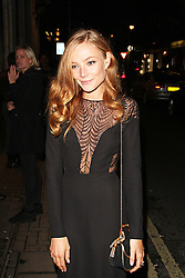 © Licensed to London News Pictures. 16/10/2013. UK Clara Paget, Gucci - Private Event, Old Bond Street, London UK, 16 October 2013. Photo credit : Brett D. Cove/Piqtured/LNP