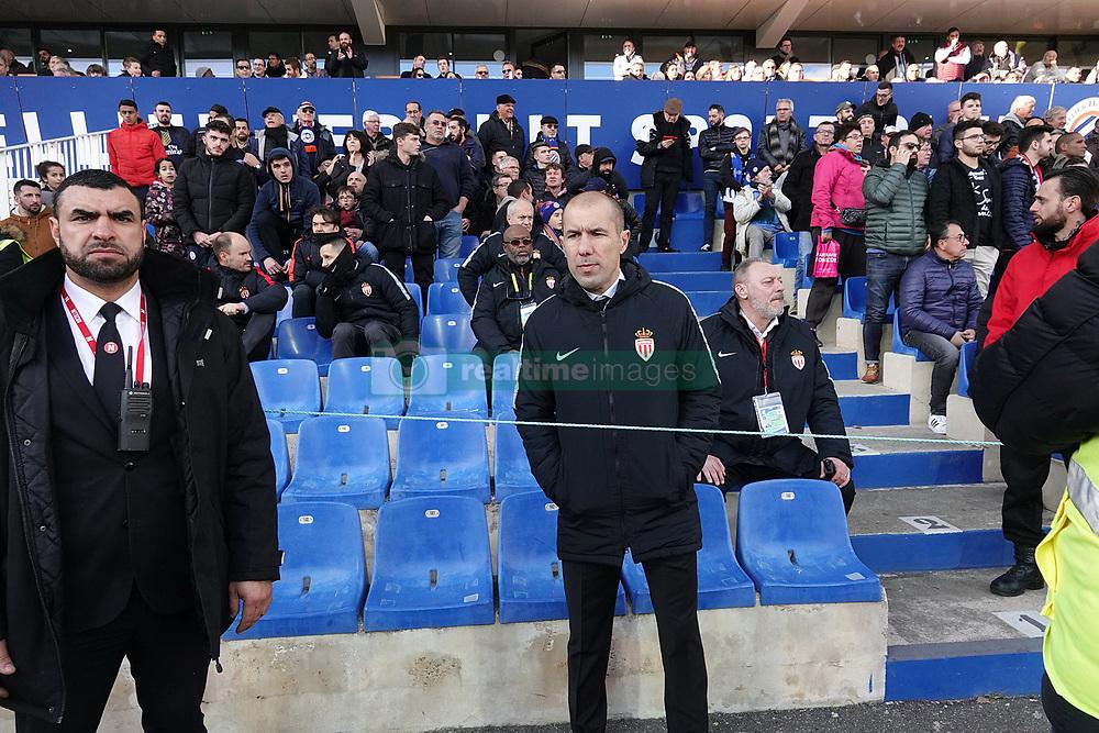 February 10, 2019 - Montpellier, France - Leonardo JARDIM, entraineur As Monaco expulser expulsion expulsé par l'arbitre en tribune (Credit Image: © Panoramic via ZUMA Press)