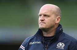 Scotland head coach Gregor Townsend during the NatWest Six Nations match at the Aviva Stadium, Dublin.