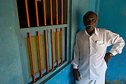 Mr. P. Raju at home. Porto Novo..Mr. Raju worked for many years in the Merchant Navy. He is rather annoyed that he has a pension of just $50 a month. He is 71 years old..January 2008.<br /> South India.