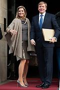 Uitreiking van de Prins Claus Prijs 2014 n het Koninklijk Paleis in Amsterdam.<br /> <br /> Presentation of the Prince Claus Award in 2014 n the Royal Palace in Amsterdam.<br /> <br /> op de foto / On the photo: <br />  Koningin Maxima en koning Willem-Alexander / Maxima Queen and King Willem-Alexander