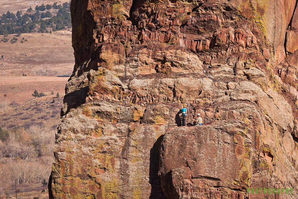 Climbers on the Bastille in Eldorado Canyon State Park, Colorado. Some of craig hoffman's favorite photos of rock climbers in eldorado canyon state park, colorado Some of craig hoffman's favorite photos of rock climbers in action at Eldorado canyon state park, colorado