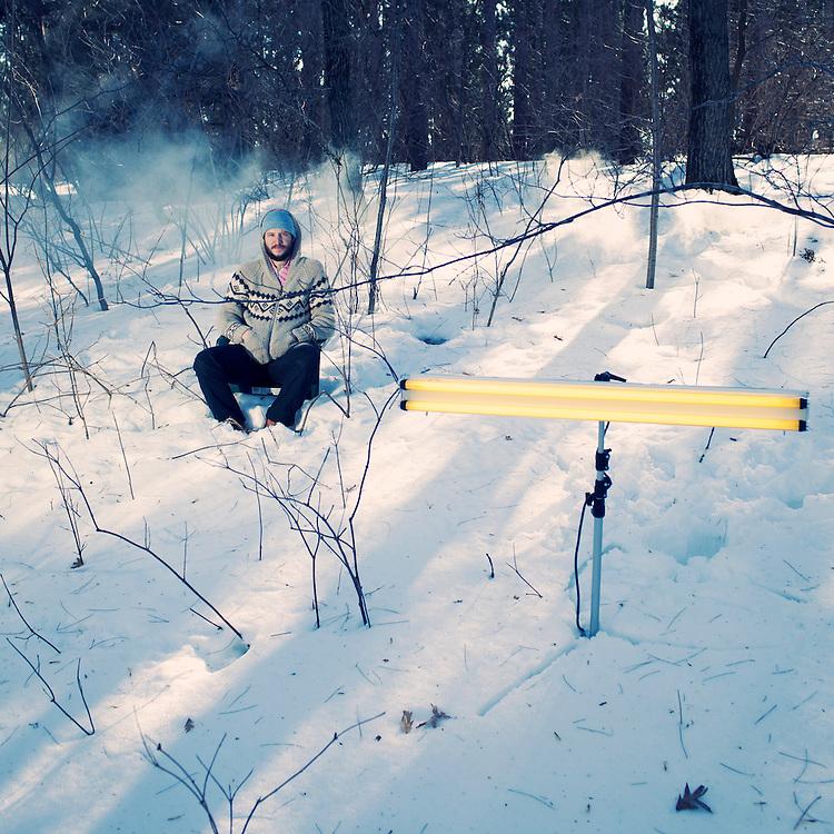 Bon Iver, Justin Vernon, Falls Lake, Wisconsin, February 2011.