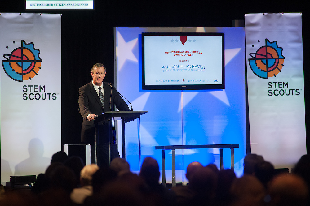 The  Capitol Area Council of the Boy Scouts of America, 2015 Distinguished Citizen Award Dinner, honoring William McRaven, Chancellor of The University of Texas System.