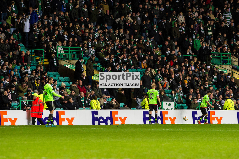 Some Celtic fans have had enough after Ajax' second goal<br /> as Celtic host Ajax at Parkhead in the Europa League.<br /> &copy; Ger Harley/ SportPix.org.uk 26 November 2015