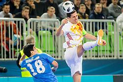 Ortiz of Spain during futsal match between Kazakhstan and Spain in Semifinals of UEFA Futsal EURO 2018, on February 8, 2018 in Arena Stozice, Ljubljana, Slovenia. Photo by Ziga Zupan / Sportida