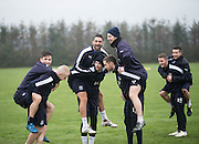 Dundee's new Spanish striker Arturo Juan Rodr&iacute;guez Perez-Reverte trains with his new team mates at the University Grounds, Riverside, Dundee<br /> <br />  - &copy; David Young - www.davidyoungphoto.co.uk - email: davidyoungphoto@gmail.com