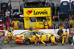 July 22, 2018 - Loudon, New Hampshire, United States of America - Michael McDowell (34) comes down pit road for service during the Foxwoods Resort Casino 301 at New Hampshire Motor Speedway in Loudon, New Hampshire. (Credit Image: © Justin R. Noe Asp Inc/ASP via ZUMA Wire)
