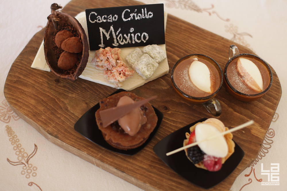 Study of Mexican Chocolate from Yucatán, a chocolate dessert at Capella Pedregal Hotel and Resort, Cabo San Lucas, Mexico