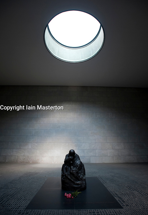 Interior of Neue Wache war memorial in Mitte Berlin Germany