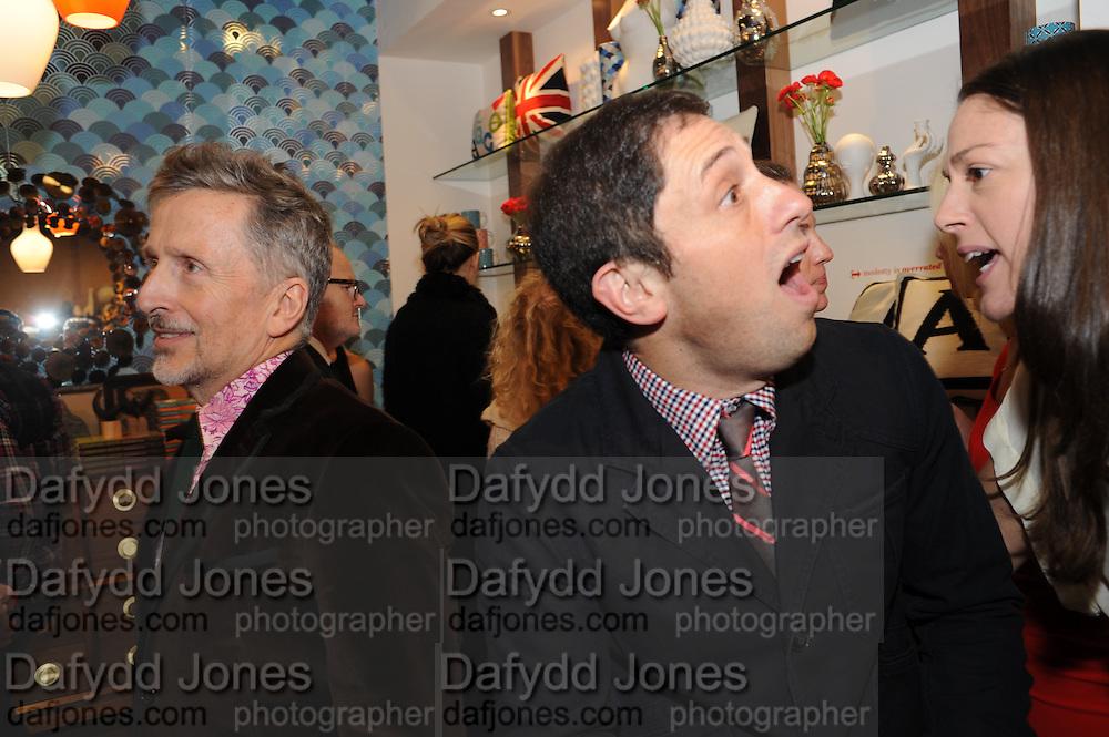 SIMON DOONAN; JONATHAN ADLER, Jonathan Adler Store opening. Sloane St. London. 16 November 2011. <br /> <br />  , -DO NOT ARCHIVE-© Copyright Photograph by Dafydd Jones. 248 Clapham Rd. London SW9 0PZ. Tel 0207 820 0771. www.dafjones.com.