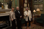 INNA BAZHENOVA; PROFESSOR MIKHAIL PIOTROVSKY;  MAGGI HAMBLING, Professor Mikhail Piotrovsky Director of the State Hermitage Museum, St. Petersburg and <br /> Inna Bazhenova Founder of In Artibus and the new owner of the Art Newspaper worldwide<br /> host THE HERMITAGE FOUNDATION GALA BANQUET<br /> GALA DINNER <br /> Spencer House, St. James's Place, London<br /> 15 April 2015